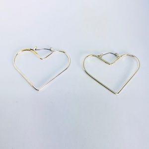 New! Silver Heart Hoop Earrings